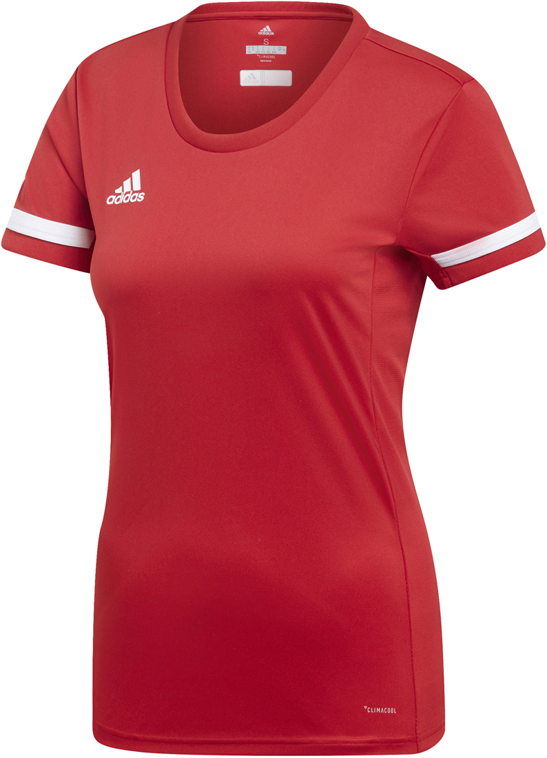 Adidas Team 19 Damen Trikot power red weiß