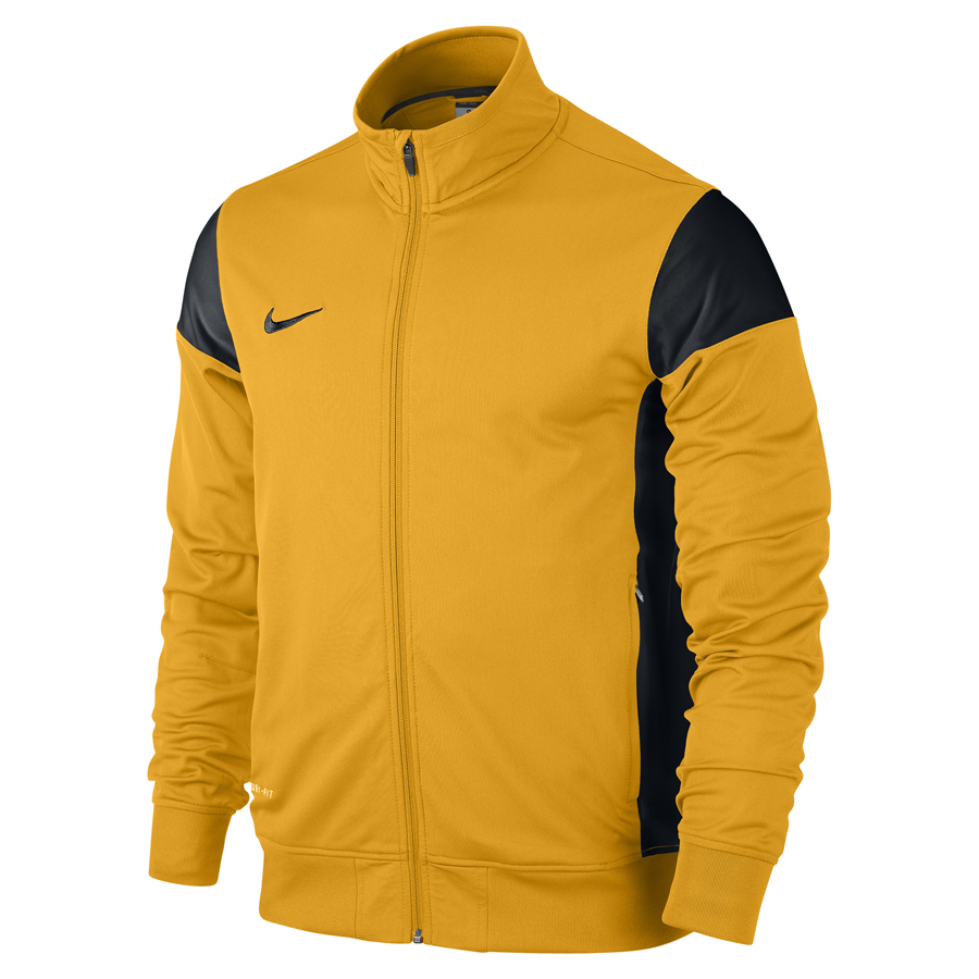 nike academy 14 herren trainingsjacke gold schwarz. Black Bedroom Furniture Sets. Home Design Ideas