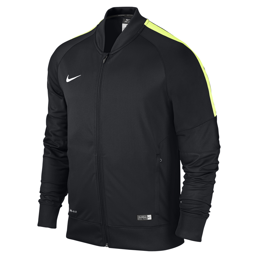 nike squad 15 herren trainingsjacke schwarz volt wei. Black Bedroom Furniture Sets. Home Design Ideas