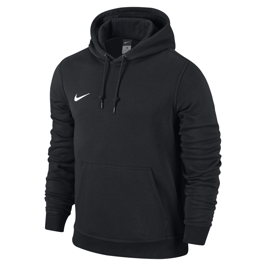 nike team club hoodie schwarz wei fussball. Black Bedroom Furniture Sets. Home Design Ideas