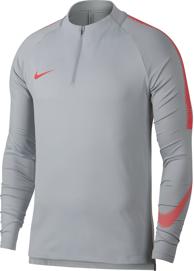 outlet store 36174 099e3 Nike Dry Squad Drill Herren Fußball Top wolf grey-crimson