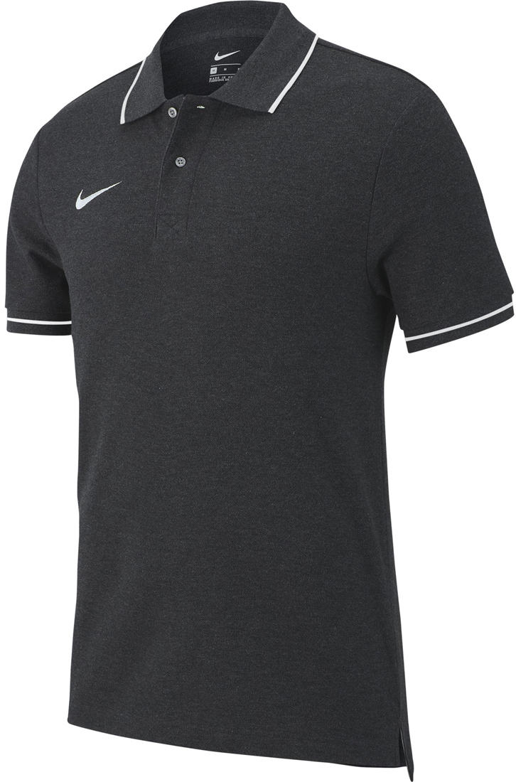 bba00b83 Nike Team Club 19 Polo charcoal heather-weiß | Fussball-Shop.de