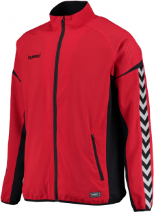 Hummel Authentic Charge Micro Zip Jacke true red
