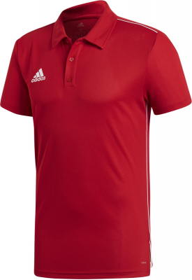 Adidas Core 18 Polo power red-weiß