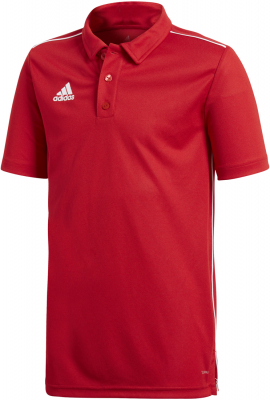 Adidas Core 18 Kinder Polo power red-weiß