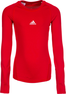 Adidas Alphaskin Kinder Langarm Shirt power red