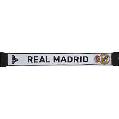 Adidas Real Madrid Schal clear white-schwarz 135cm x 16,5 cm