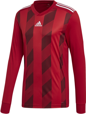 Adidas Striped 19 Langarm Trikot power red-weiß