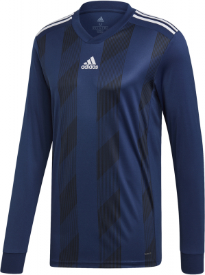 Adidas Striped 19 Langarm Trikot dark blue-weiß