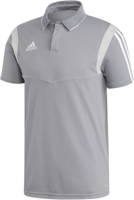 Adidas Tiro 19 Cotton Polo grau-weiß