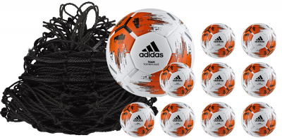Adidas 10er Ballpaket Team Top Replique Fußball weiß-orange