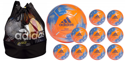 Adidas 10er Ballpaket Team Futsal 290g Ball orange-blau 4