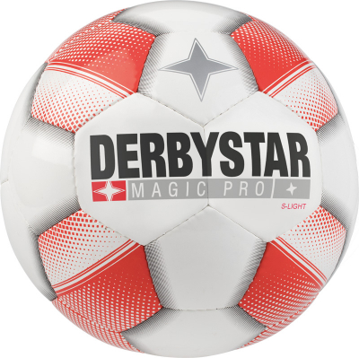 Derbystar Magic Pro S-Light Fußball weiß-rot