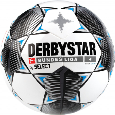 Derbystar Bundesliga Magic Light 19/20 Fußball weiß-schwarz