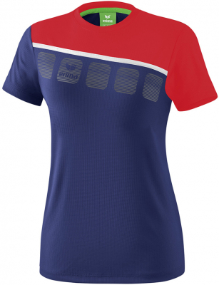 Erima 5-C Damen T-Shirt new navy-rot-weiß