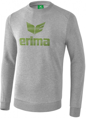 Erima Essential Sweatshirt hellgrau melange-twist of lime