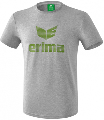 Erima Essential T-Shirt hellgrau melange-twist of lime