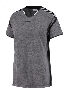Hummel Authentic Charge Damen Poly Trikot dark grey melange