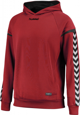 Hummel Authentic Charge Poly Hoodie true red
