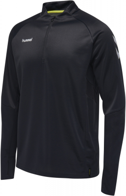 Hummel Tech Move Kinder 1/2 Zip Sweatshirt schwarz