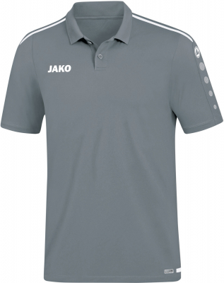 Jako Striker 2.0 Polo steingrau-weiß