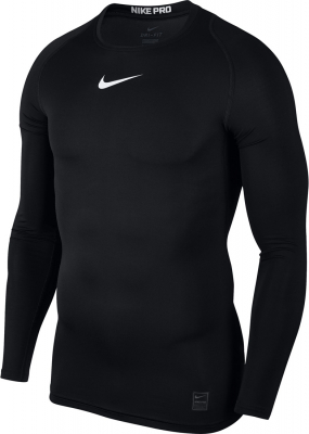 Nike Top Compression Herren Langarm Top schwarz-weiß