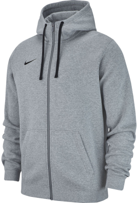 Nike Team Club 19 Full Zip Hoodie dark grey heather