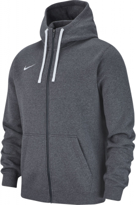 Nike Team Club 19 Full Zip Hoodie charcoal heather-anthrazit