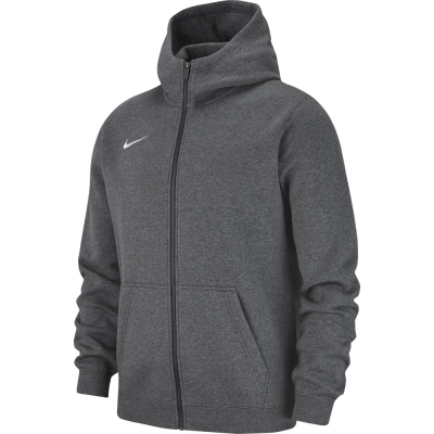 Nike Team Club 19 Kinder Full Zip Hoodie charcoal heather