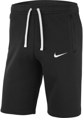 Nike Team Club 19 Fleece Shorts schwarz-weiß