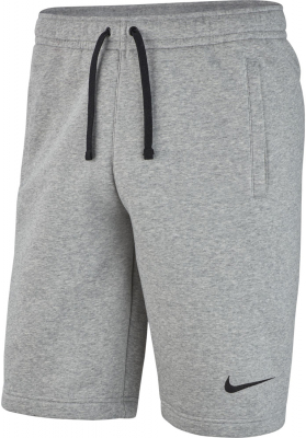 Nike Team Club 19 Kinder Fleece Shorts dark grey heather