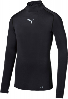 Puma TB Kompression Warm Langarm T-Shirt schwarz