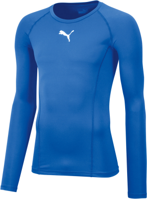 Puma Liga Baselayer Kinder Langarm Shirt el. blue lemonade