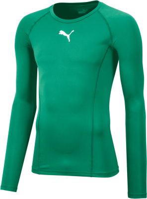 Puma Liga Baselayer Kinder Langarm Shirt pepper green