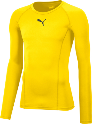 Puma Liga Baselayer Kinder Langarm Shirt cyber yellow