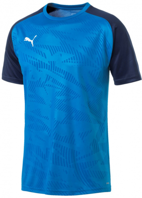 Puma Cup Core Training Trikot electric blue lemonade-peacoat