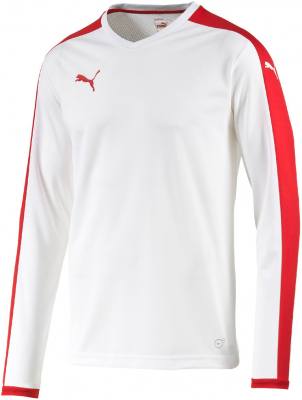 Puma Pitch Langarm Trikot weiß-puma red