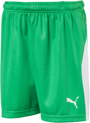 Puma Liga Kinder Shorts bright green-puma white