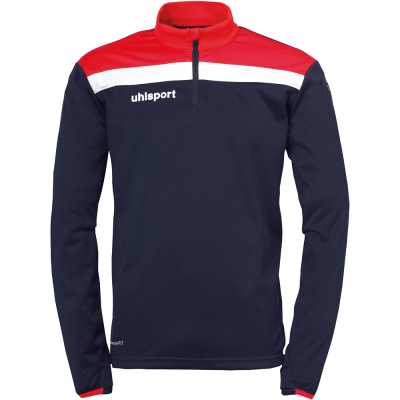Uhlsport 1/4 Zip Top Offense 23 rot-blau-weiß