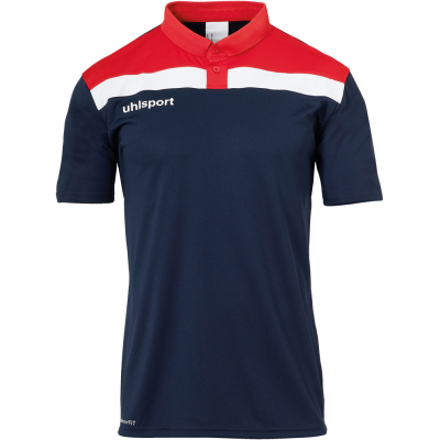 Uhlsport Polo Shirt Offense 23 blau-rot-weiß