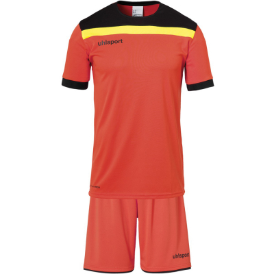Uhlsport Torwart-Set kurz Offense 23 orange-schwarz