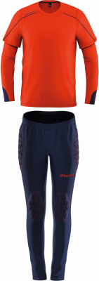 Uhlsport Stream 22 Kinder Torwart-Set fluo rot-marine