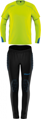 Uhlsport Stream 22 Kinder Torwart-Set fluo gelb-radar blau