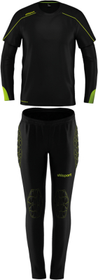 Uhlsport Stream 22 Kinder Torwart-Set schwarz-fluo gelb